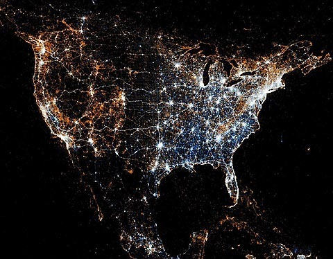 America-Twitter-Flickr-map