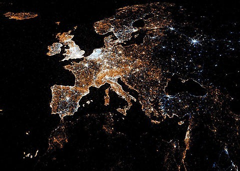 Europe-Twitter-Flickr-map